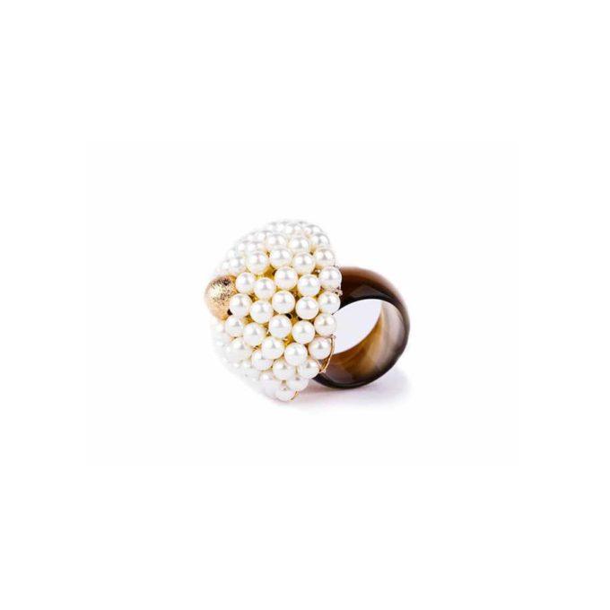 bague sofia perles avec anneau agate bijoux en tunisie