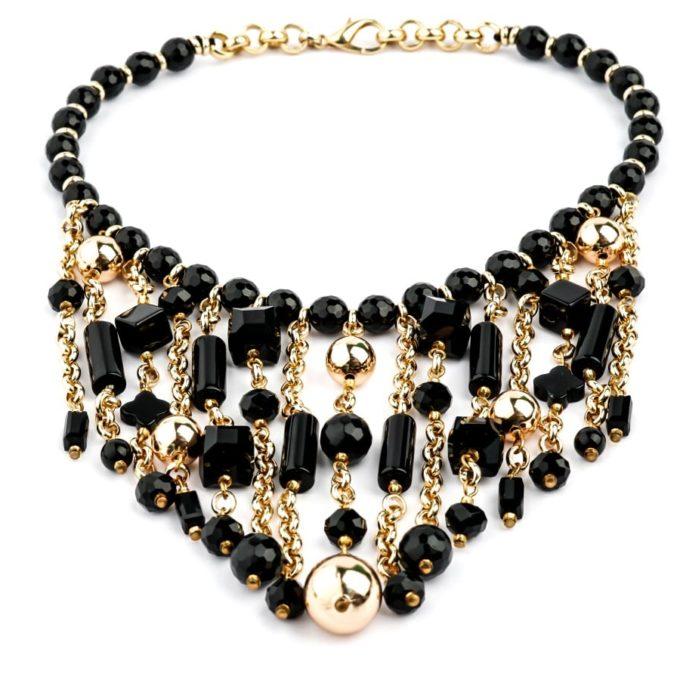 Collier pour Femme Tilia Noir bijouterie artisanale