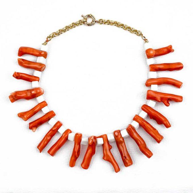 collier brache de corail cadeau bijoux femme