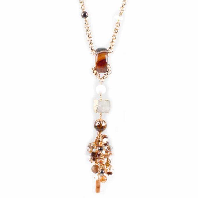 Bijou de fantaisie , collier pour femme pierres précieuses