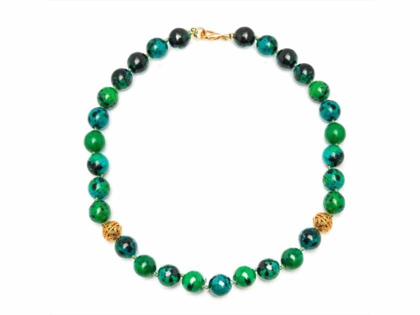 Collier haut joaillerie romancia vert