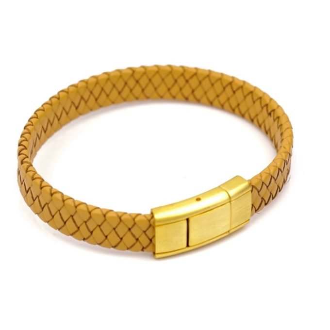 Bracelet pour homme, bijoux tunisie couleur Jaune