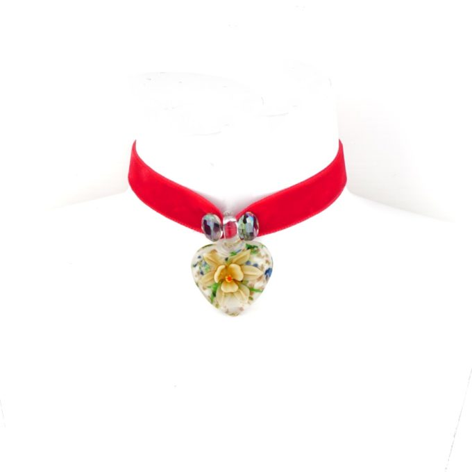Collier rouge en forme de coeur pour Femme Fashion Jewelery
