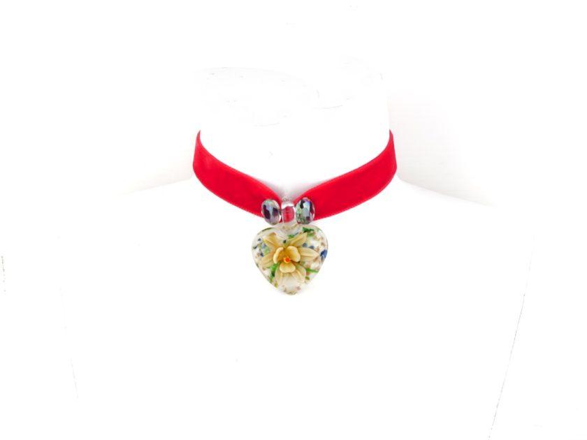 Collier rouge en forme de coeur pour Femme Fashion Jewelery