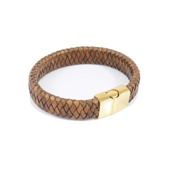 Bracelet HOMME EN CUIR TRESSÉ AVEC FERMOIR MAGNÉTIQUE