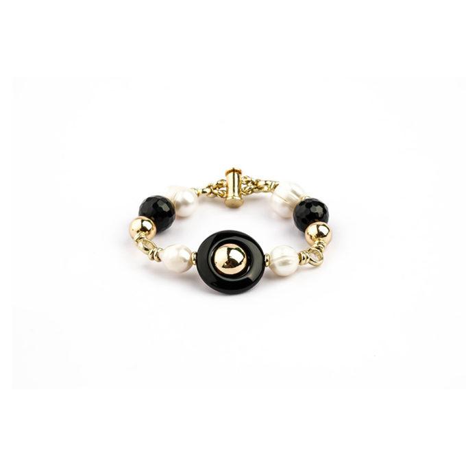 bracelet en onyx et perle tunisie