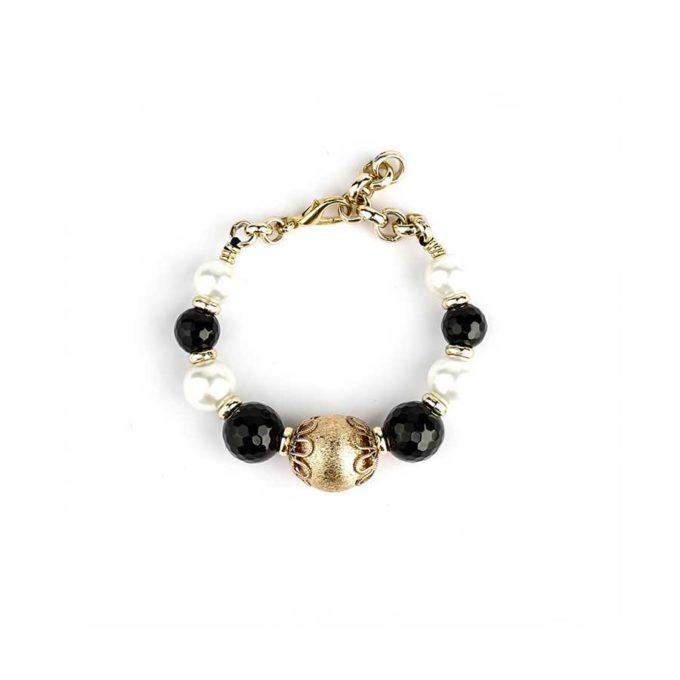 bracelet en onyx et perle bijoux tunisie