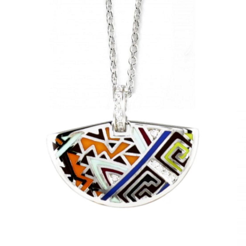 collier émaille en argent 925 bijoux en tunisie meilleurs cadeau