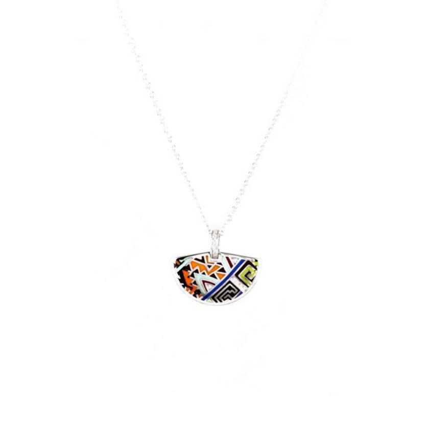 collier émaille en argent 925 bijoux en tunisie cadeau