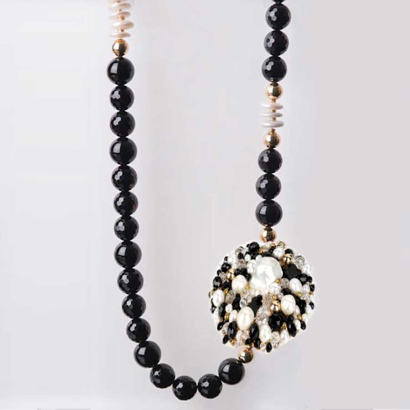 collier perla onyx et perle bijoux en tunisie