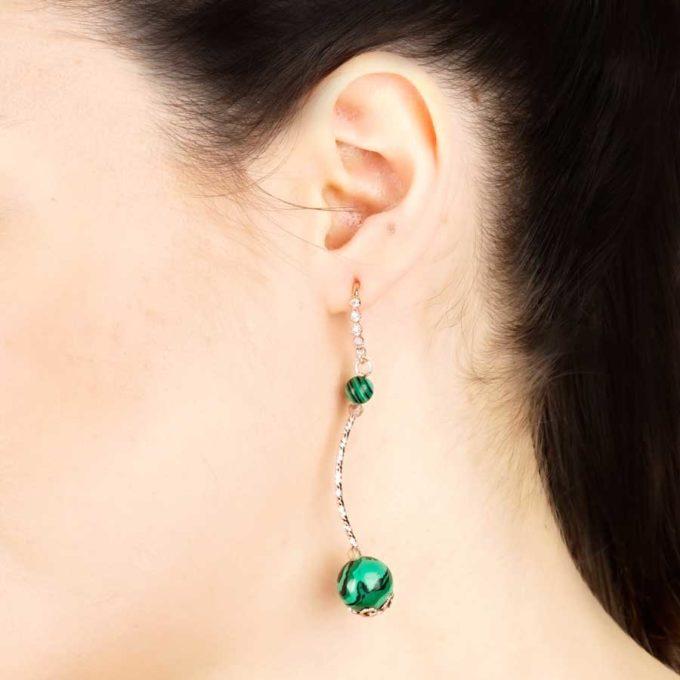 boucles yara malachites pour femme en tunisie bijoux