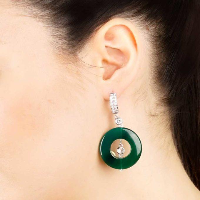 boucles d'oreilles yara aventurines pour femme en tunisie bijoux