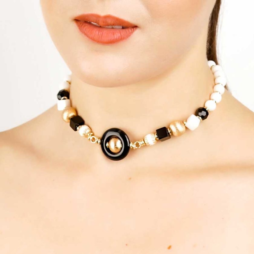 boucles yara onyx et pierres natural pour femme en tunisie bijoux