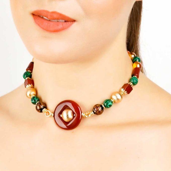 boucles yara malachites er agate pour femme en tunisie bijoux