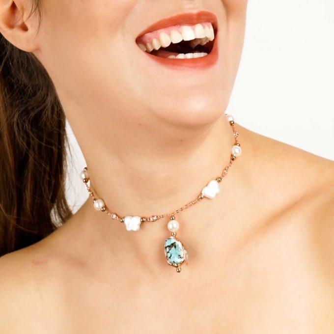 boucles d'oreilles turquoise bijoux pour femme YARA