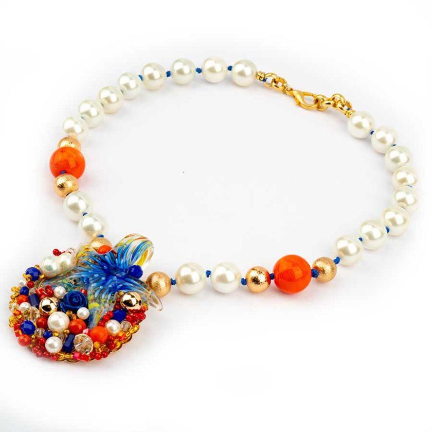 Collier pour femme etoile-de-mer-blue-corail