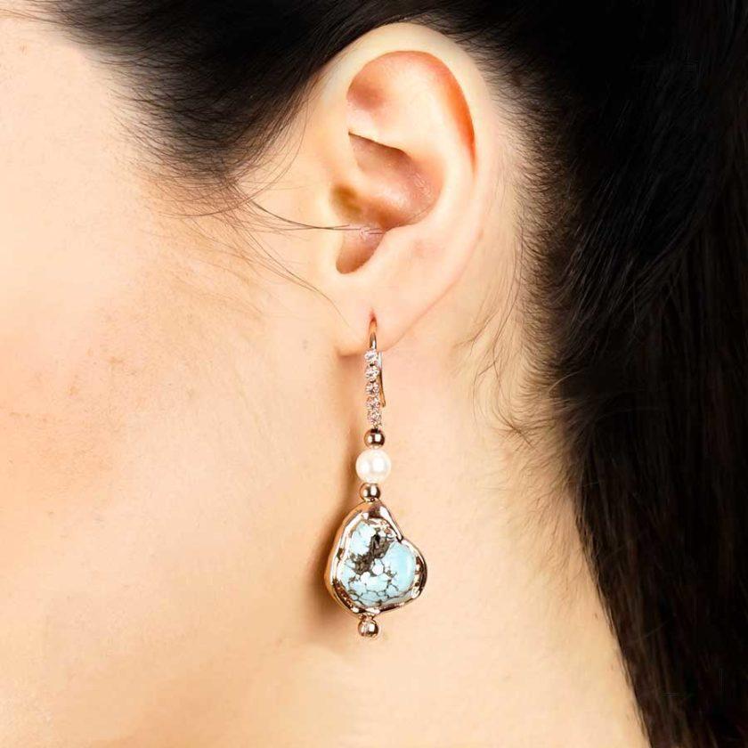 boucles d'oreilles turquoise bijoux pour femme
