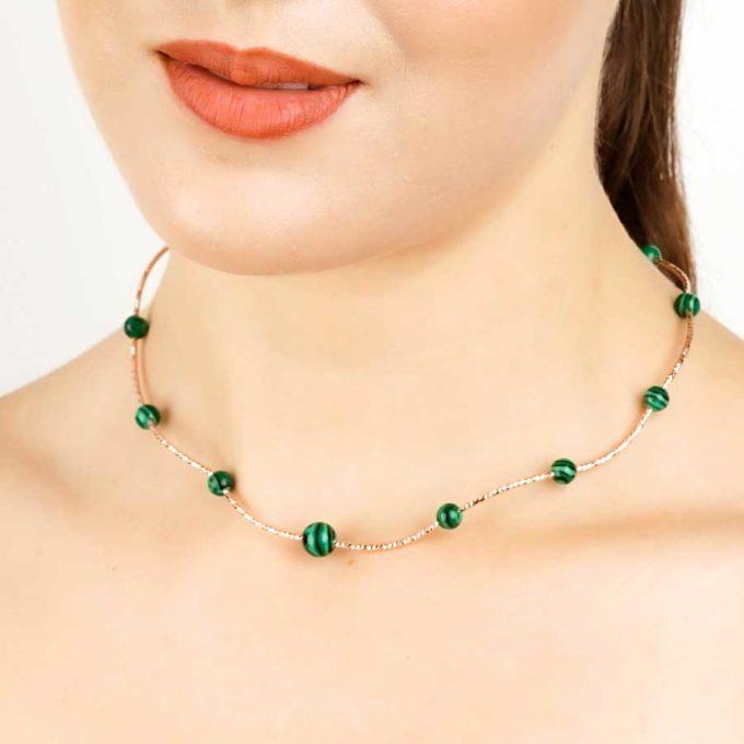 collier yara malachites pour femme en tunisie bijoux