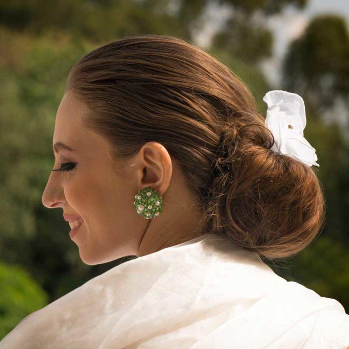 boucles d'oreilles sofia vert et perles cadeaux