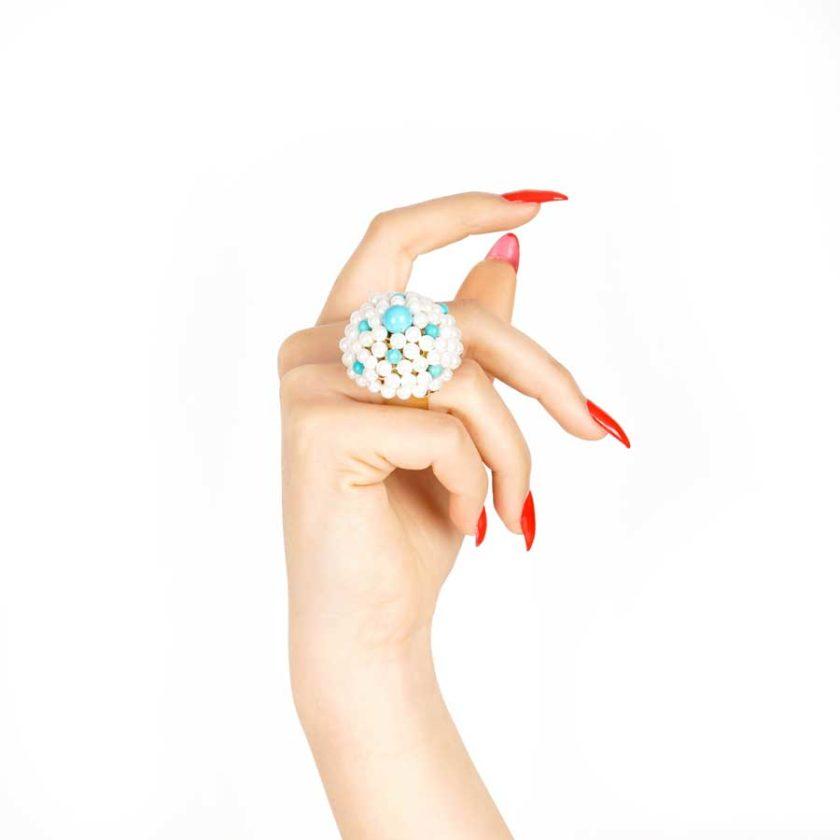 bague sofia en perle turquoise cadeaux pour femme prix