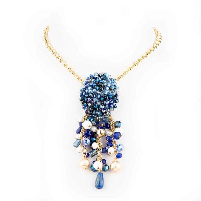 Collier bleu chic pour femme Sofia