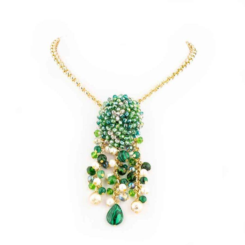 collier-sofia-meilleurs-cadeau-pour-femme vert-rouge