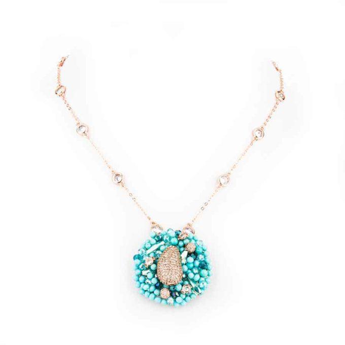 Collier Dahlia , bijou artisanal pour ceremonies