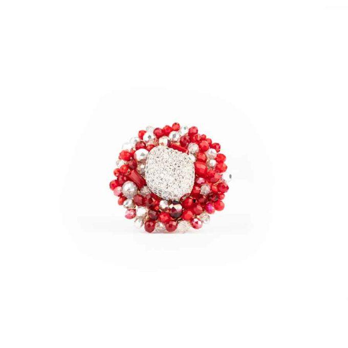 Boucles d'oreilles Sofia Rouge 2