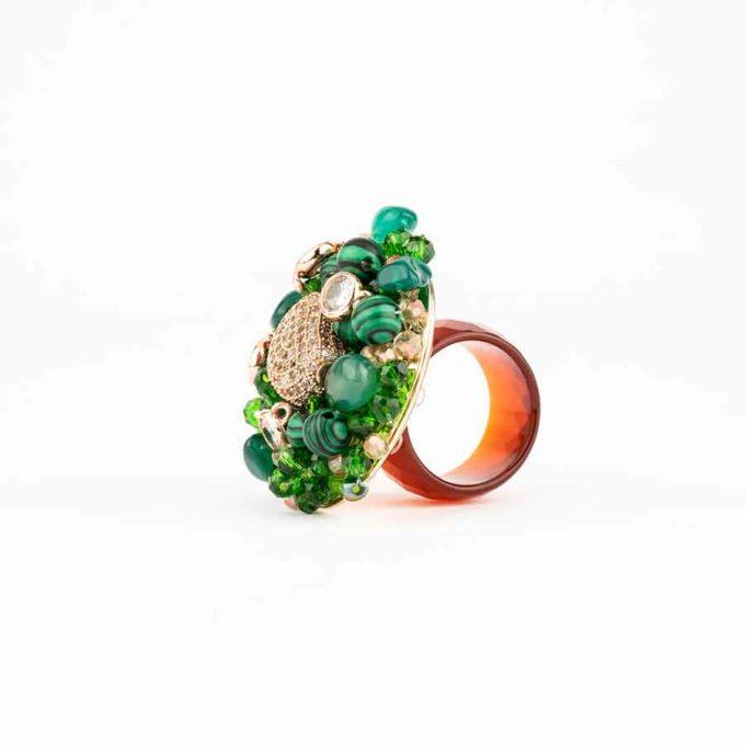 Boucles d'oreilles femme collection Sofia Vert