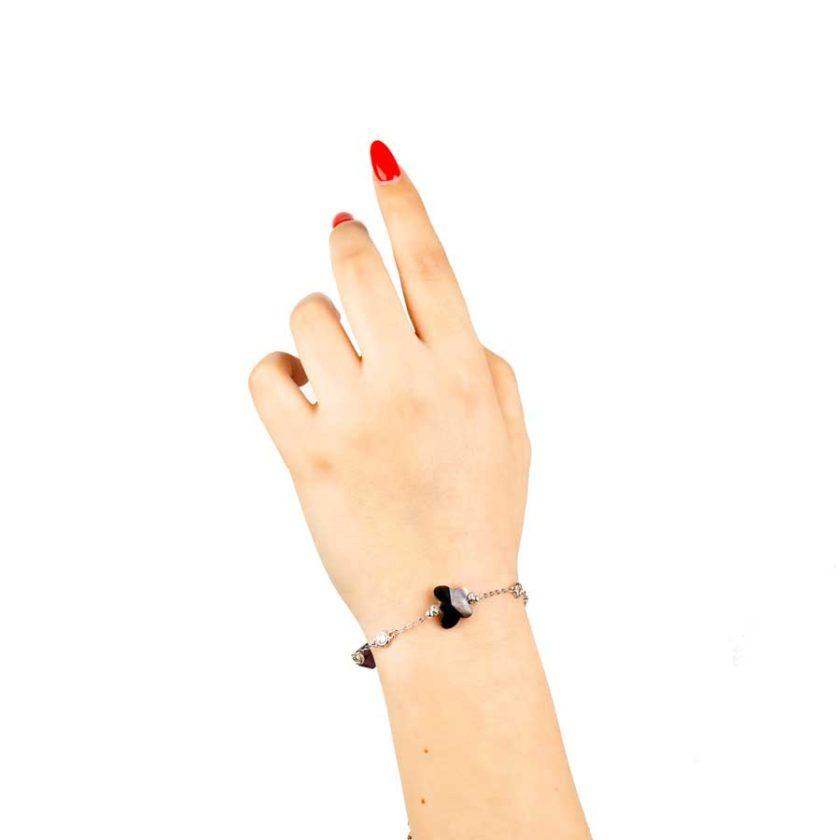 Bracelet intemporelle pour femme crystal en forme de papillon