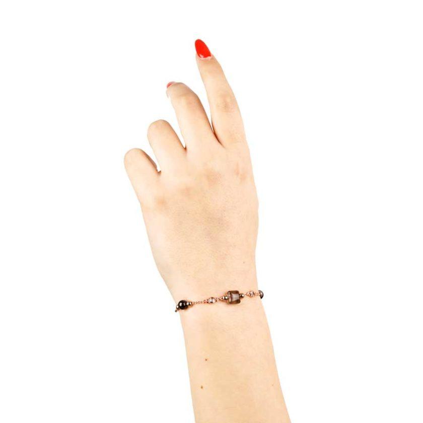 Bracelet intemporelle pour femme agate et onyx